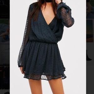 Free people sheer polka dot dress